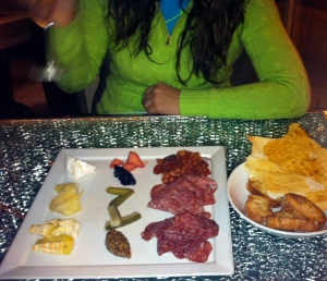 Charcuterie and cheese plate at Pops