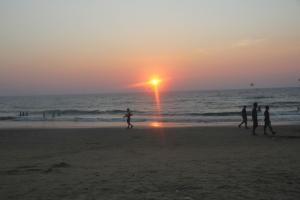 Calangute beach, Goa sunset