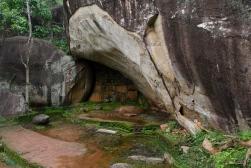 Monk dwelling at Sigiriya, Sri Lanka