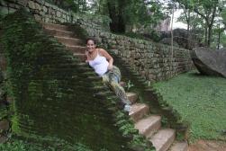 Mossy steps at Sigiriya, Sri Lanka