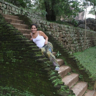 Mossy steps at Sigiriya, Sri Lanka