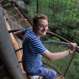 Winding stairs up the cliff at Sigiriya, Sri Lanka