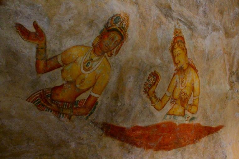 Frescos in cave dwellings at Sigiriya, Sri Lanka
