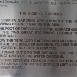 Sigiriya Gardens sign