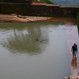 Royal pool at the top of Sigiriya, Sri Lanka