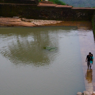 Royal pool at the top of Sigiriya, Sri Lanka