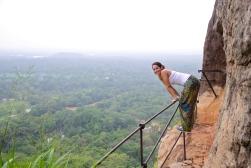 Looking down at Sigiriya, Sri Lanka