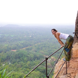 Looking down at Sigiriya, Sri Lanka