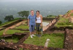 At the the top of Sigiriya, Sri Lanka