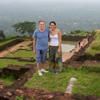 At the the top of Sigiriya, Sri Lanka