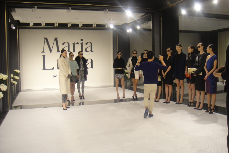 Maria Luisa fashion show rehearsal