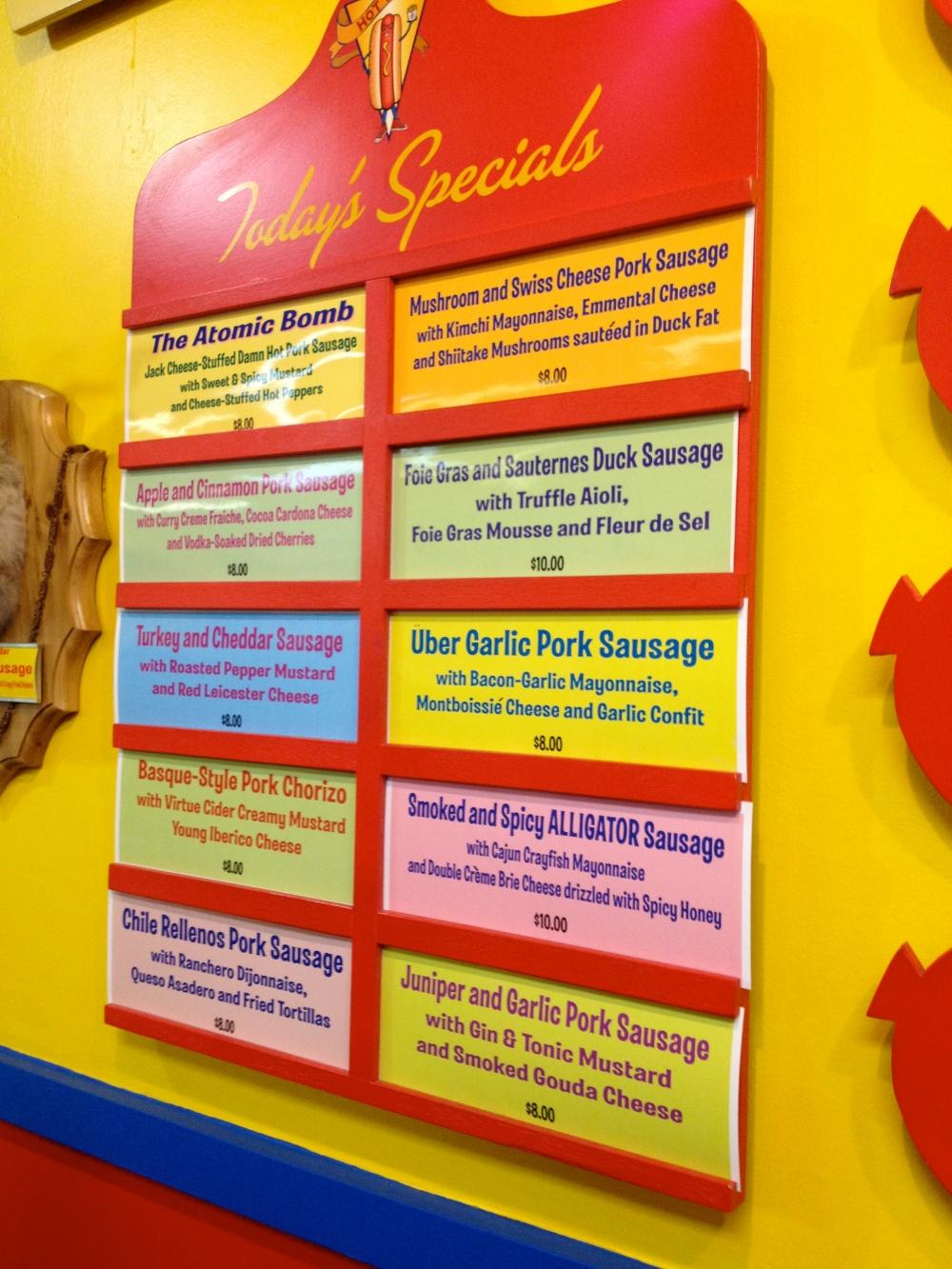 Hot Doug's Specials
